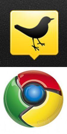 TweetDeck and Chrome logos